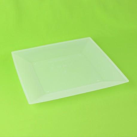 Assiette plate carrée 23 cm